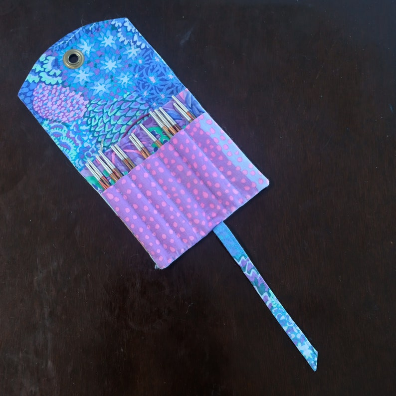 Hand Made pouches for interchangeable knitting needles