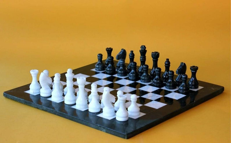 Chess set-Marble Chess Board handmade Chess Sets  Chess table image 0