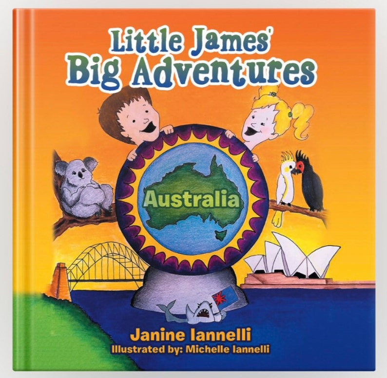 Little James Big Adventures Australia HARD COVER image 0