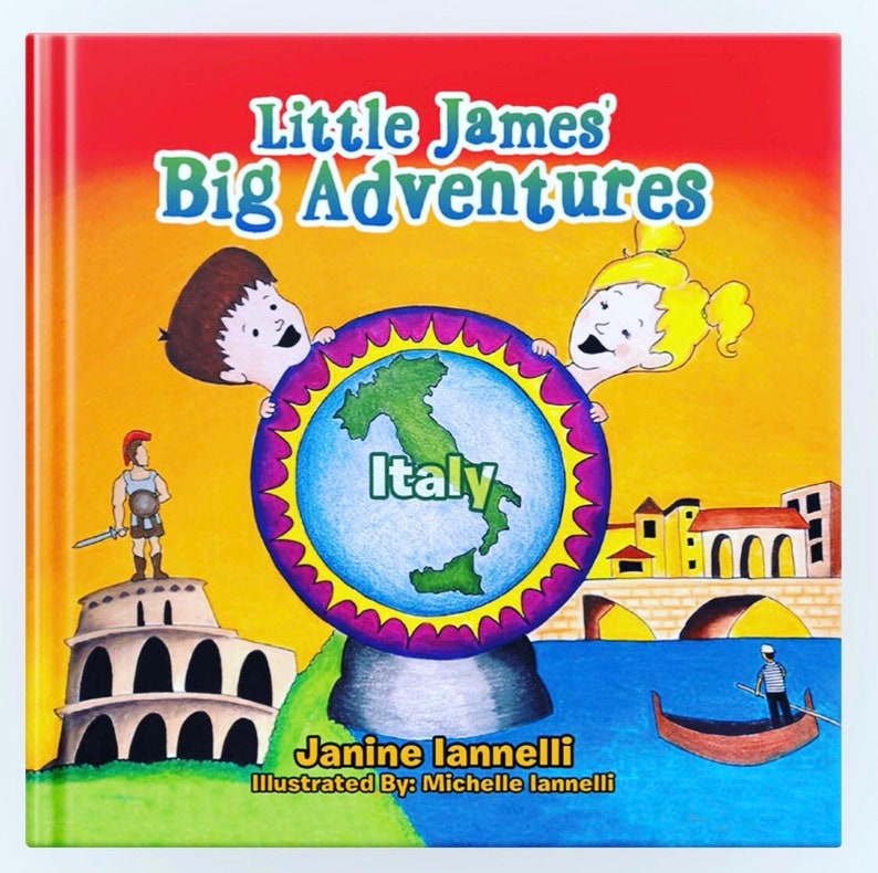 Little James Big Adventures Italy HARD COVER. image 0
