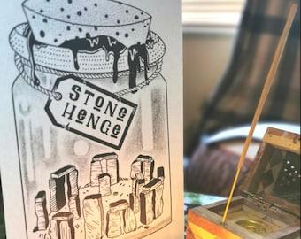 The magic of Stonehenge A5 Print  Folklore Pagan Magic Spell Jar