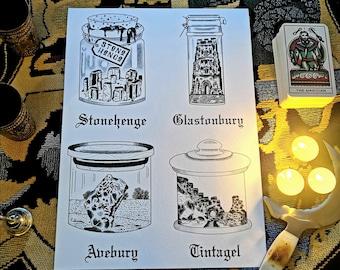 Spell jar vol 1 Magic Stonehenge Glastonbury Tintagel Avebury