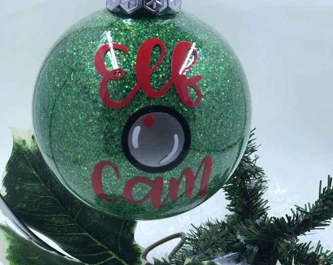 Featured listing image: Elf Cam Glitter Christmas Ornament