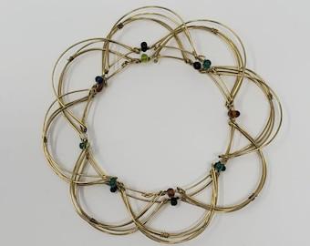 Fidget Toy, Fidget Wire Bracelet, Stress Relief Jewelry,  Anti Anxiety Gift, Sensory Tool, Mandala Fidget, Meditation Bracelet