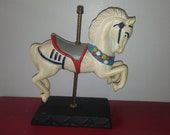 Vintage Cast Iron collectible hand painted Carousel Horse
