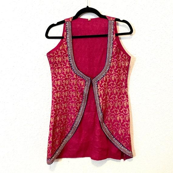 Pink Brocade Vest