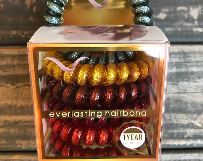 Gunmetal Glitter Blend Hair Ties | Bracelets | Spiral Hair Bands