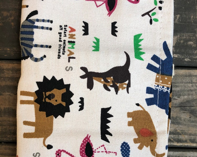 Animals 36 Loops Canvas Pencil Pouch | Case | Roll Up Pouch