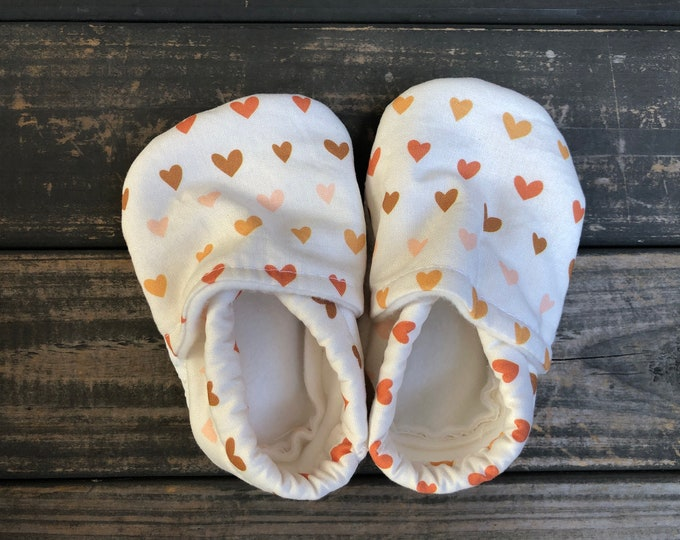 Hearts Baby Shoes   Toddler Shoes