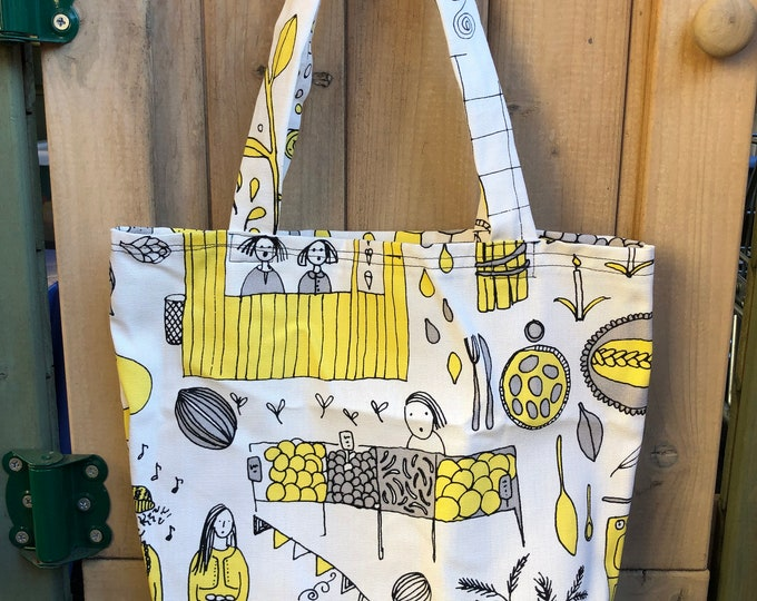 Farmers Market Tote Bag | Canvas Tote | Reusable Bag | Book Bag