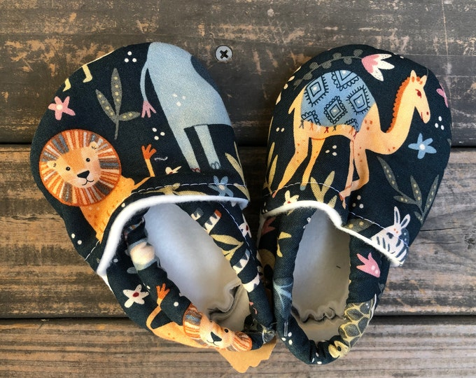Safari Animals Baby Shoes | Toddler Shoes