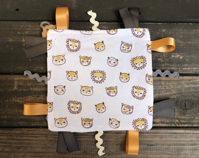 Felines Crinkle Square | Sensory | Teething | Lovey | Taggies | Baby Toy