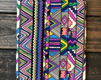 Colorful Print 36 Loops Canvas Pencil Pouch | Case | Roll Up Pouch