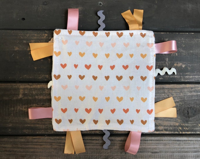Hearts Crinkle Square | Sensory | Teething | Lovey | Taggies | Baby Toy