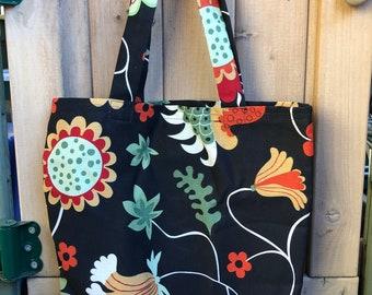 Swedish Floral Tote Bag | Canvas Tote | Reusable Bag | Book Bag