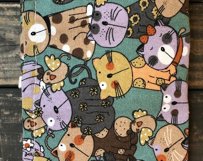 Cats 36 Loops Canvas Pencil Pouch | Case | Roll Up Pouch
