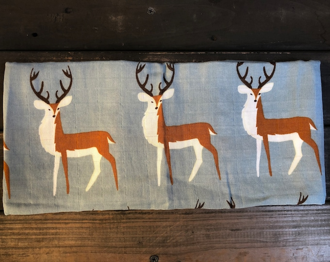 Deers Muslin Burp Cloth | Swaddle | Blanket | Bib | Scarf