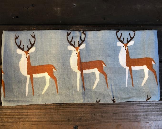 Deers Muslin Burp Cloth | Swaddle | Blanket | Bib | Scarf