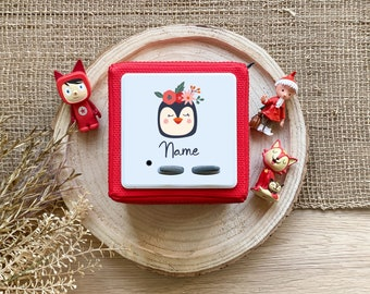 Toniebox Protective Film with Name, Toniebox Personalized, Toniebox Sticker, Motif Penguin