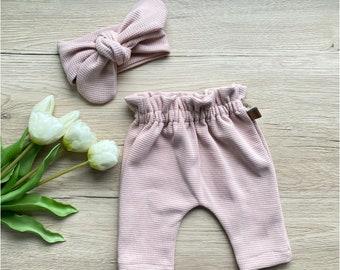 Paperbag Pants, Paperbagpants, Baby Pants, Girl Pants, Birth Gift, Home Coming Outfit Baby, Pink
