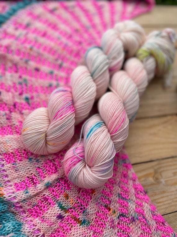 Dahlia Hand Dyed Yarn - sock/4ply, silk/merino, DK, silk merino blend