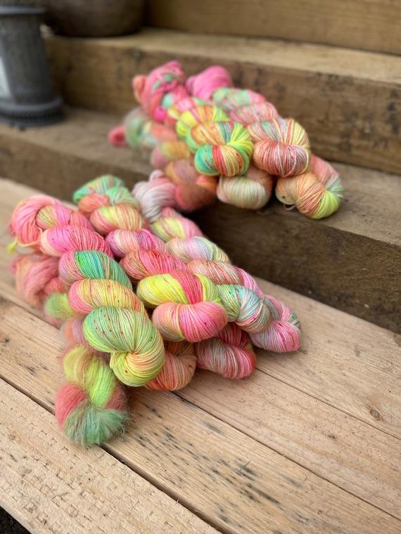 Fruit Salad Hand Dyed Yarn - sock/4ply, silk/merino, DK, silk merino blend