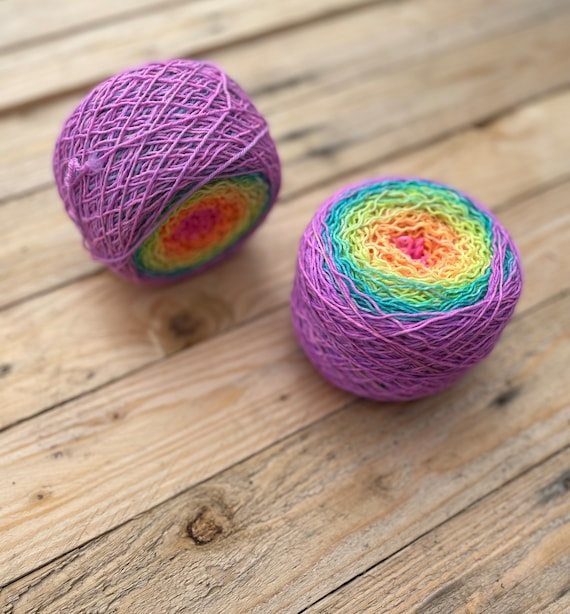 Yarn Cakes - indie dyed yarn, hand dyed yarn, whirl cake, fade cake