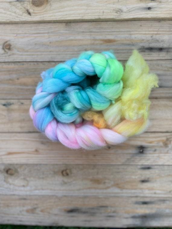 Dolly Hand Dyed Fibre Braid - 100% Superwash Merino wool tops