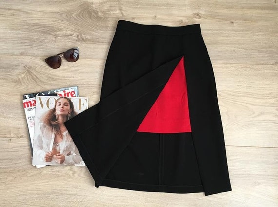 Thierry Mugler skirt, Thierry Mugler black and red