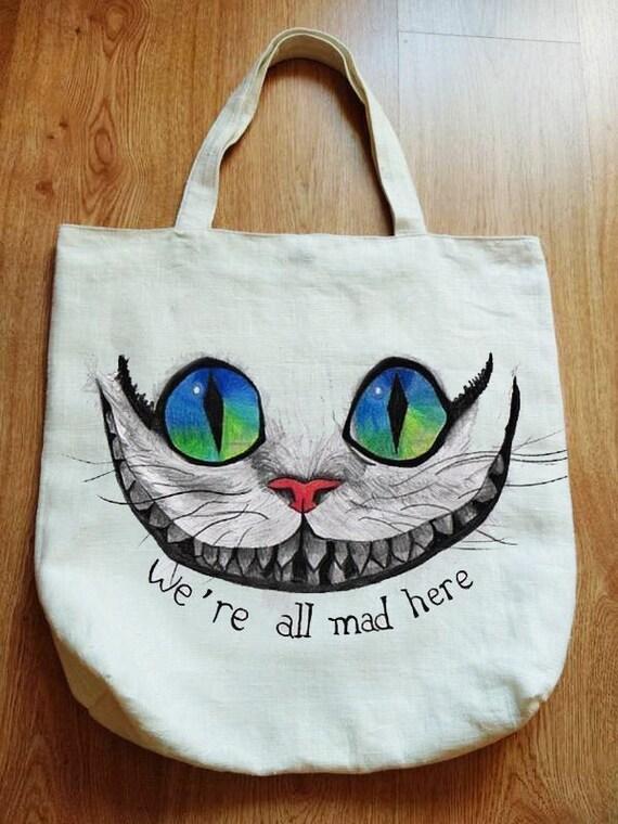 Eco Bag with Cat zero-waste shopper organic bag ha