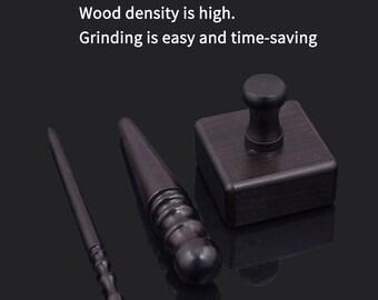 3pcs Elektrische Schleifkopf Lederhandwerk Poliert Burnisher Slicker Tool