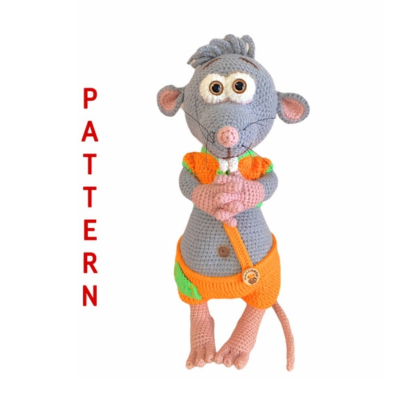 Cute Mouse Toy Crochet Pattern with Photos, Soft and Fluffy Little Mouse, DIY How To Crochet Tutorial