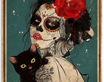 Sugar skull poster | Etsy