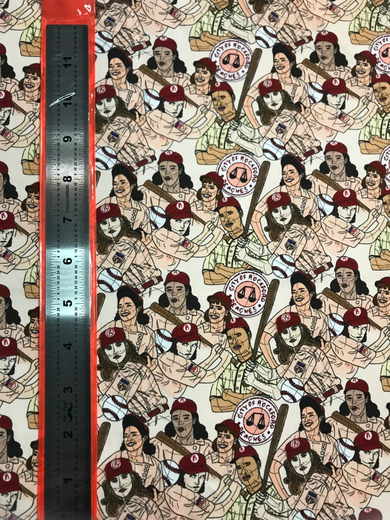 9x14in Tumbler Cut Fabric All American League