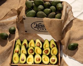 Large Organic Avocado Box, 12 to 16 (min. 5 lbs) California Organic Hass Avocados, 100% Certified Organic Hass Avocados, Avocados, Avocado.
