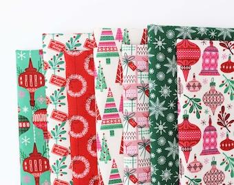 Christmas Past Half Yard Bundle / Lori Rudolph / Cloud9 / Christmas Fabric / Retro