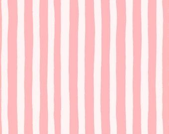 Garden Jubilee Stripes Pink / Phoebe Wahl / FIGO Fabrics / Gnome / White