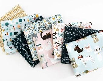 Vanity Fur Fat Quarter Bundle / Dear Stella / Clara Jean Design / Quilting Cotton / Dog / Cat