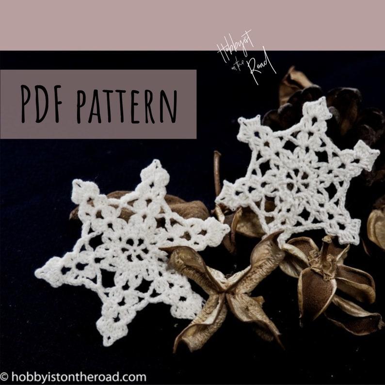 Ornate Snowflake Easy Crochet PATTERN Instant Download PDF image 1