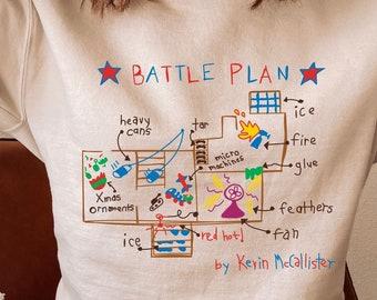 Home Alone Sweatshirt, Home alone batttle plan, Kevin McCallister Christmas Shirt, Christmas Movie Shirt, Christmas Sweater, 90s xmas movie