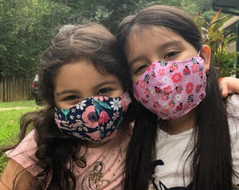 Kids Over the head Face Mask with Filter Pocket, Kid's Face Mask, Pattern Facemask
