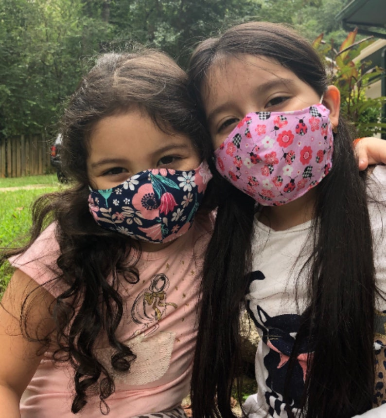 Kids Over the head Face Mask with Filter Pocket Kid's image 0