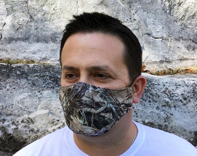 Realtree Camo Face Mask - TrueTimber MC2 Brown - Handmade - Filter Pocket