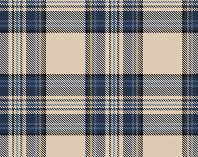 Dad Plaids, Emanuel Cream Blue Plaid, Cotton Woven, 51867-5, Whistler Studios/Windham Fabrics