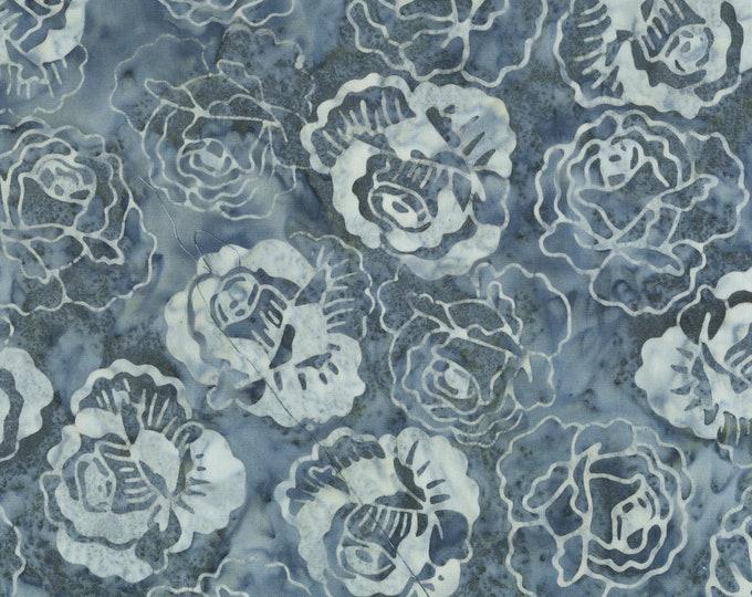 Anthology Batiks Roses Smoke Art Inspired: Number 1, 1949 - 252Q-1 Smoke, 100% Batik Cotton