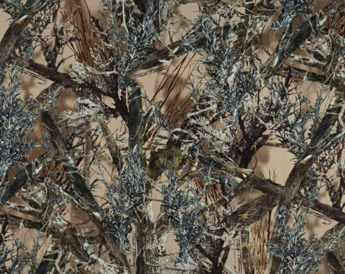 True Timber Cotton MC2 Brown Multi Fabric By Springs Creative, True Timber Camo Fabric