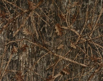 True Timber Cotton Conceal Brown Multi Fabric By Springs Creative, True Timber Camo Fabric