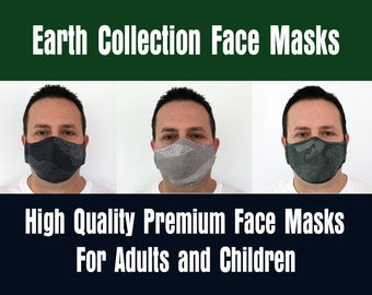 Earth Collection Face Masks for Men, Women, and Children - Handmade - Filter Pocket