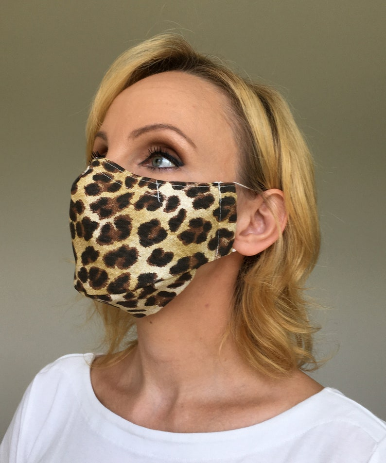 Leopard Face Mask For Women Leopard Print Face Mask | Etsy