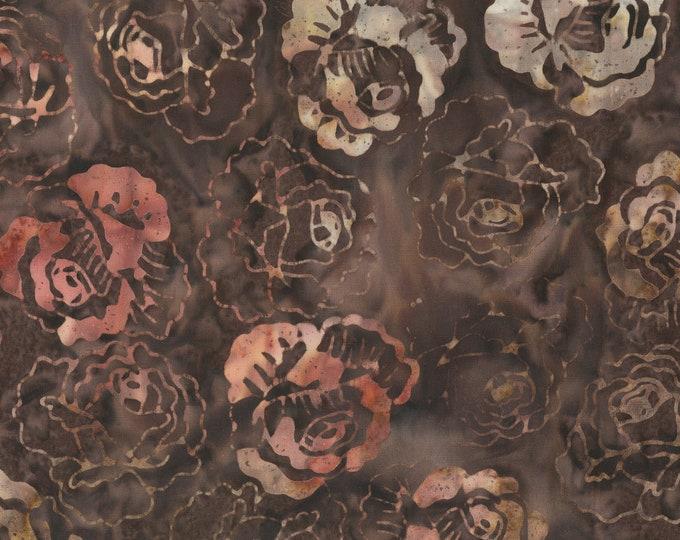 Anthology Batiks Roses Umber Art Inspired: Number 1, 1949 - 252Q-2 Umber 100% Batik Cotton